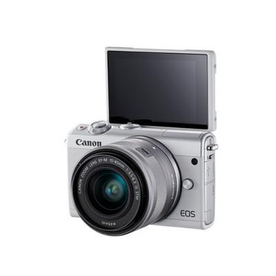Canon EOS M100 + EF-M 15-45mm IS STM MILC 24,2 MP CMOS 6000 x 4000 Pixeles Blanco - Imagen 3