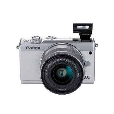 Canon EOS M100 + EF-M 15-45mm IS STM MILC 24,2 MP CMOS 6000 x 4000 Pixeles Blanco - Imagen 4
