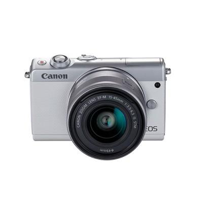 Canon EOS M100 + EF-M 15-45mm IS STM MILC 24,2 MP CMOS 6000 x 4000 Pixeles Blanco - Imagen 5