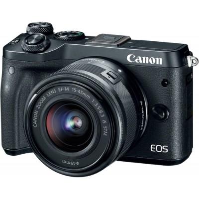 Canon EOS M6 + EF-M 15-45mm 3.5-6.3 IS STM MILC 24,2 MP CMOS 6000 x 4000 Pixeles Negro - Imagen 1