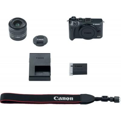 Canon EOS M6 + EF-M 15-45mm 3.5-6.3 IS STM MILC 24,2 MP CMOS 6000 x 4000 Pixeles Negro - Imagen 2