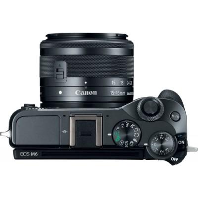 Canon EOS M6 + EF-M 15-45mm 3.5-6.3 IS STM MILC 24,2 MP CMOS 6000 x 4000 Pixeles Negro - Imagen 3