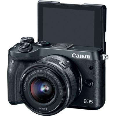 Canon EOS M6 + EF-M 15-45mm 3.5-6.3 IS STM MILC 24,2 MP CMOS 6000 x 4000 Pixeles Negro - Imagen 5