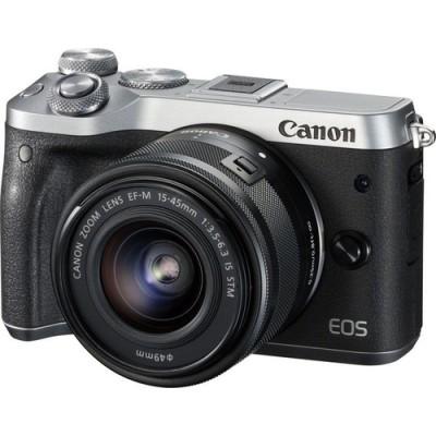 Canon EOS M6 + EF-M 15-45mm 3.5-6.3 IS STM MILC 24,2 MP CMOS 6000 x 4000 Pixeles Negro, Plata - Imagen 1