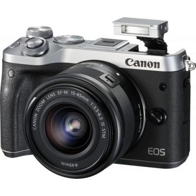 Canon EOS M6 + EF-M 15-45mm 3.5-6.3 IS STM MILC 24,2 MP CMOS 6000 x 4000 Pixeles Negro, Plata - Imagen 2