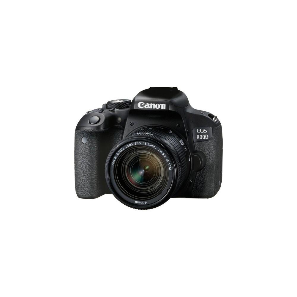 Canon EOS 800D + EF-S 18-55mm 4.0-5.6 IS STM Juego de cámara SLR 24,2 MP CMOS 6000 x 4000 Pixeles Negro - Imagen 1