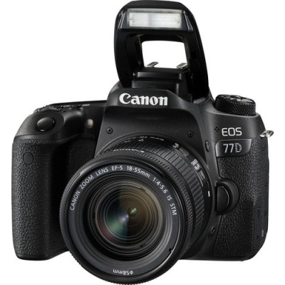 Canon EOS 77D + 18-55mm F4.0-5.6 IS STM Juego de cámara SLR 24,2 MP CMOS 6000 x 4000 Pixeles Negro - Imagen 1