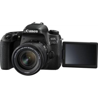 Canon EOS 77D + 18-55mm F4.0-5.6 IS STM Juego de cámara SLR 24,2 MP CMOS 6000 x 4000 Pixeles Negro - Imagen 2