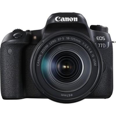Canon EOS 77D + EF-S 18-135mm 3.5-5.6 IS USM Juego de cámara SLR 24,2 MP CMOS 6000 x 4000 Pixeles Negro - Imagen 1