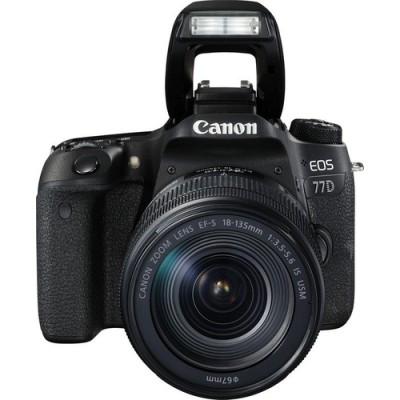 Canon EOS 77D + EF-S 18-135mm 3.5-5.6 IS USM Juego de cámara SLR 24,2 MP CMOS 6000 x 4000 Pixeles Negro - Imagen 3