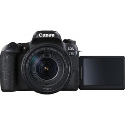 Canon EOS 77D + EF-S 18-135mm 3.5-5.6 IS USM Juego de cámara SLR 24,2 MP CMOS 6000 x 4000 Pixeles Negro - Imagen 7